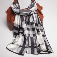 105077 170x52cm 2014 Newest Women's Heavy Crepe Satin Scarf, 100% Silk scarves, rectangle silk scarf, Free Shipping Muslim Hijab