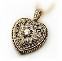 2014 new free shipping 8g fashion crystal jewelry heart usb flash drive girls women necklace  day birthday gift  usb flash drive