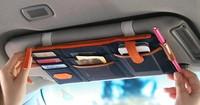 Free Shipping Multifunction Sun visor Storage bag Car hanging bag Storage Organizer Arrangement Bag of sun visor