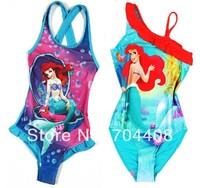 Retail- Free shipping Girls Kids Baby Mermaid Cute Swimsuit Swimwear Bathers Children bathing suits Tankini Swimwear