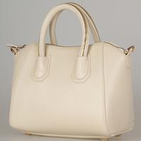 free shipping  Genuine leather women's handbag  white bridal bag genuine leather handbag vintage one shoulder handbag