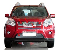 High quality stainless steel Front Grille Around Trim Racing Grills Trim For 2012 Nissan X-TRAIL  hyu