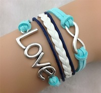 2014 Europe and the United States jewelry wholesale Joker LOVE restoring ancient ways of eight bracelet