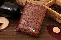 Wholesale new 2014 Men's Genuine Leather billfold brand Crocodile Wallet clutch purse Carteira Masculina bolsa Free Shipping