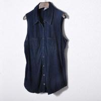 Ms cherry Fashion sleeveless denim shirt denim shirt women's 2014 spring women's new arrival