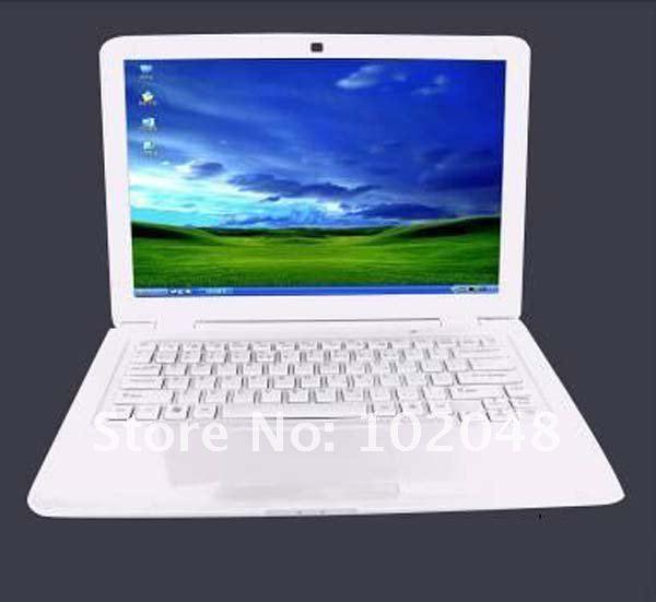 Latest arrival!13.3 inch wide screen Intel Dual core notebook computer,camera,wifi,windows 7 mini laptop(China (Mainland))