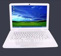 Latest arrival!13.3 inch wide screen Intel Dual core notebook computer,camera,wifi,windows 7 mini laptop