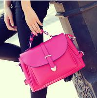 *  spring and summer vintage british style one shoulder cross-body suitcase-type hasp women's fashion handbag