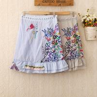 421 Free Shipping fresh length knee skirts 2014 spring/summer specially ruffles straight skirts women skirts