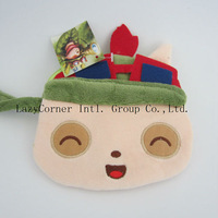 50pcs/lot New Arrival Unisex Q Version Teemo Wallet With Zipper Character Plush Wallet
