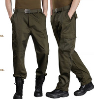 Top Quality Army Green And Black Men's Casual Pants Outdoor Straight Loose Big Size Army Trousers(S-XXL)Supply