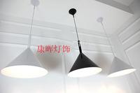Modern brief individuality bar counter balcony funnel pendant light Minimalist lustres home lamps modern led garden lantern
