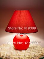 Fashion lamps red colored glaze bed-lighting brief desk lighting modern lamp lantern desk lamp luminaria abajur para quarto