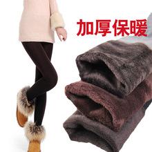 Leste Knitting FRETE GRÁTIS Mulheres Bamboo dentro Engrosse Fur Leggings quentes das mulheres roupas de inverno mais calças tamanho venda quente(China (Mainland))