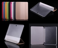 Tab4 T530 Case - Smart Cover with transparent Back case For SAMSUNG GALAXY Tab 4 10.1 T530 SM-T530 T531 T535 Stand holder Case