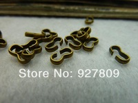 Free Shipping 100pcs 4*8mm  ancient bronze alloy Character buckle  diy accessories vintage