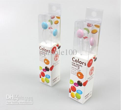 Sweet Peas chocolate -ear headphones MP3 headphones music headphones colorful retail package 5pcs lot(China (Mainland))