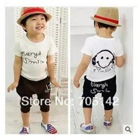 Free shipping! 2014 summer Cartoon boys' baby clothing suits, cotton short sleeve t-shirt+pants for kids/children clothing sets