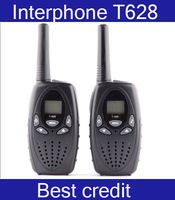 Free Shipping Long range pair walkie talkie ham radio CB 2 way T628 walkie talkies PMR/FRS 1W power PTT w/121 private code/Kate