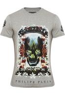 Free Shipping 2014 spring and summer male slim pullover short-sleeve T-shirt man t-shirt multicolour skull