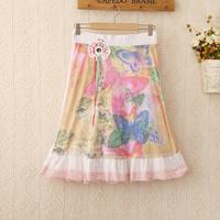 426 Free Shipping 2014 new wholesale fashion Women's straight skirts waist sweet temperament fresh color knee length skirt