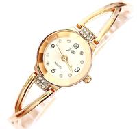 Women Steel Crystal Shining Quartz Twisted Rope Bracelet Bangle Wrist Watch NEW