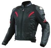 Komine JK-052 Titanium Leather Mesh Jacket Motorcycle jackets