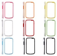 10PCS/Lot For Samsung Galaxy S Duos S7562/ S7560 Bumper Case Transparent PC+TPU Case with 8 Colors