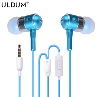 Hot selling metal headphones with microphone heavy bass sound earphone for mp3 phone
