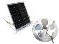USA stock, solar powered attic vent gable roof ventilator fan ventilation 29w mono panel,solar fan,free ship