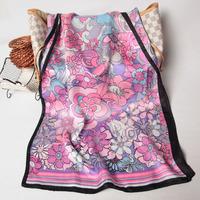 106046 175x52cm 2014 Newest Women's Crepe Satin Plain Scarf, 100% Silk scarves, rectangle silk scarf, Free Shipping Muslim Hijab