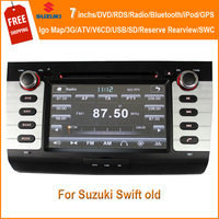 Suzuki swift dvd gps / In-Dash Car DVD Player GPS Radio with 3G Bluetooth For Suzuki Swift /Free map Card as gift/ Free shipping