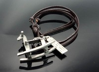 C34 Free Shipping l00% Leather charm necklace,anti cooper charms,leather necklace,key chain,bag chain,fashion necklace