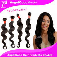 HOT!!! 4PCS 6A Brazilian Virgin Hair Body Wave Brazilian Hair Extensions Human hair weaves