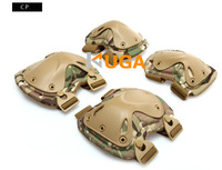 Transformers tactical knee and elbow protector pads set Tactical AIRSOFT PAINTBALL Hunting KNEE & ELBOW PADS CP Multi-cam