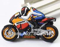 PVC Motorcycle Racer USB Drive 1GB 2GB 4GB 8GB 16GB 32GB Memory Flash Thumb Stick Key Pendrive 2.0