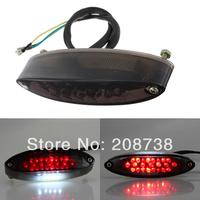 Motorcycle Quad ATV Bike Smoke LED Brake/Tail/Turn/License Plate Rear Tail Light