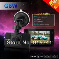 Car Camera Auto DVR Recorder G6W 1080P Driving Recorder 2.7 inch Wide Screen 140 Degree Car DVR with G-sensor WDR Freeshipping