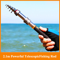 Hot!!New 2.1m 11 sections powerful telescopic fishing rod sea ultra light hand rod lure rod daiwa spinning fishing rod
