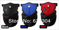 Free Shipping,Motorcycle hHlmet,Ski Mask Black/Bule/Red(Accept mix colors in one lot) Face Mark Neck /Face Warm 5pcs/Lot