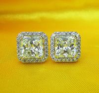 Stud Earrings Silver Earrings Earrings For Women Earring Studs Square Shape Earrings Sona Diamond Earrings Italina Earrings 925