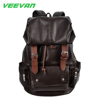 Free shipping Best Selling New Arrival 2014 men's sports knapsack women backpack school bag PU leather backpacks for students