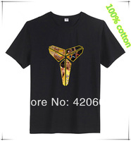 Free Ship Kobe Logo Basketball T Shirt Pure Cotton Short Sleeve Sport T-Shirt Men Loose Basketball Tees