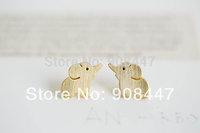 10 PCS/lot- Fashion jewelry 2014 new wholesale silver gold cute elephant earring Jewelry free shipping