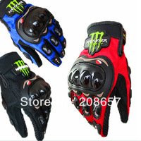 M/L/XL/XXL Full Finger Carbon Fiber Bike Motorcycle Moto Racing Gloves&Mitten Free Shipping