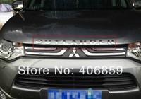stainless steel engine hood cowling LOGO For 2013 Mitsubishi Outlander Samurai