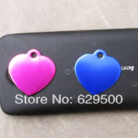 Assorted Colors Cat Puppy Dog ID Name Address Tags Heart-Shape Mixed Color Wholesale 600pcs/lot