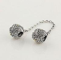 Authentic Pandora Safety Chains Pandora Silver 925 Bead Charm Silver Charm Beads Pandora Charms Sterling Silver