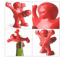 Creative Happy Man Wine Bottle Stopper Rude Funny Gift