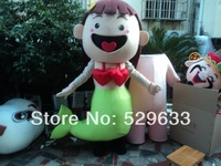 Best Price Pink Bubble Guppies Molly Girl Mascot Costume Adult Size Mermaid Carnival Costumes Cartoon Characters Costume